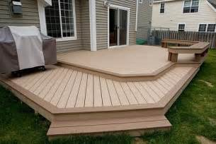 deck design ideas trex cedar hardwood alaskan0119 saddle