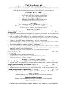 Resume Sample Hospitality Hospitality Resume Template Resume Templates 2017 Pictures