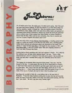 Cd Joan Osborne Early Recordings joan osborne early recordings usa promo media press pack 117531 press pack