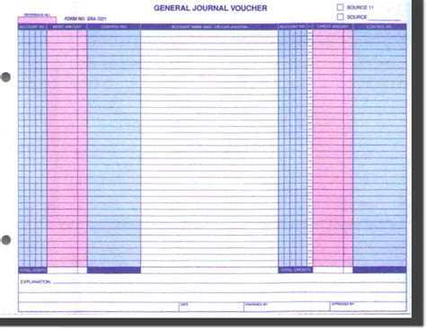 general journal template general journal voucher template printable go