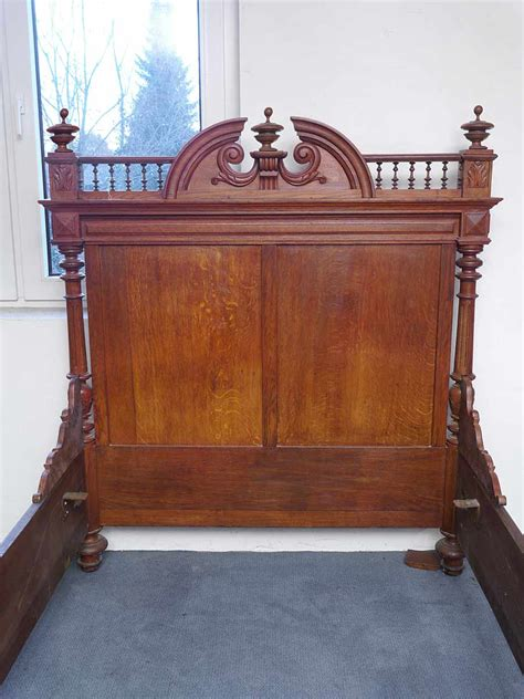 kopfteil bett antik bett bettrahmen bettgestell antik gr 252 nderzeit um 1880