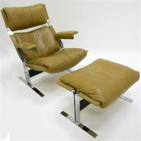 comfortable chair and ottoman comfortable steel and leather lounge chair and ottoman by