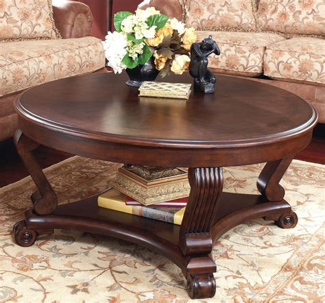 round living room table buy ashley furniture t496 8 brookfield round cocktail