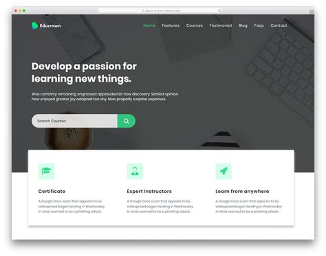 Educrown Free Html Education Website Template Colorlib Colorlib Free Templates