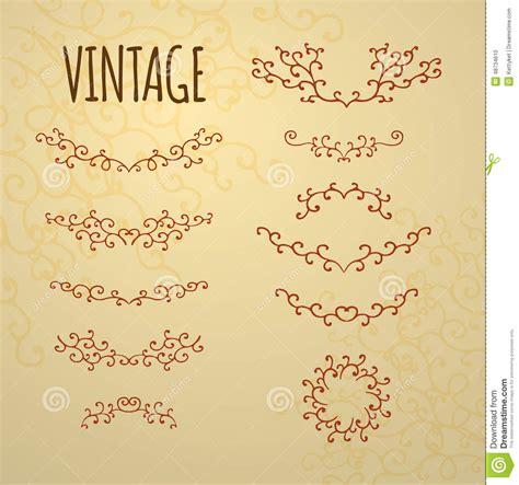 imagenes vintage baños sistema de los ornamentos del vintage para el dise 241 o de