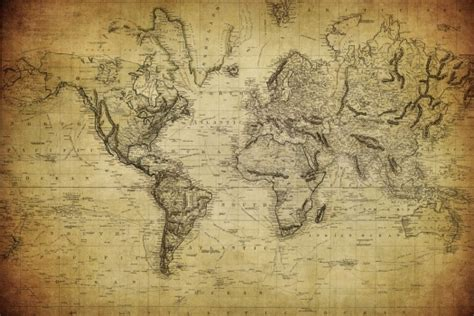 Classic World Map Wallpaper Wall - foto mural mapa antiguo mapas ref 45037961