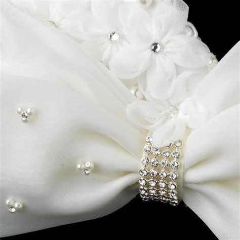 pearl rhinestone hair clip brilliant pearl rhinestone accented bow hair