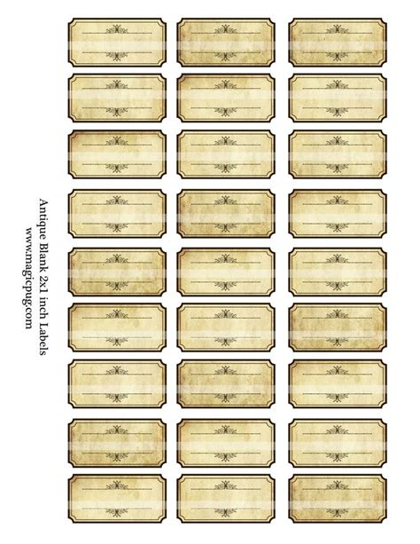 printable spice labels antique sepia blank spice labels digital collage sheet