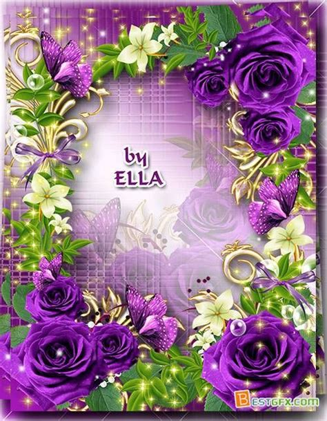 fiore designs purple flower borders and frames flower frame purple