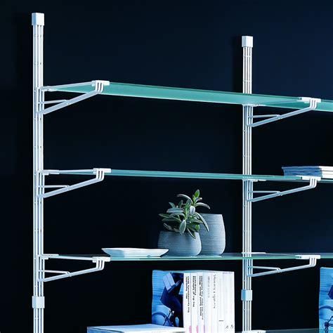 scaffale vetro elliot scaffale da parete componibile in acciaio e vetro