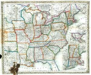 united states map with distance colton s map of the united states the canadas c showing