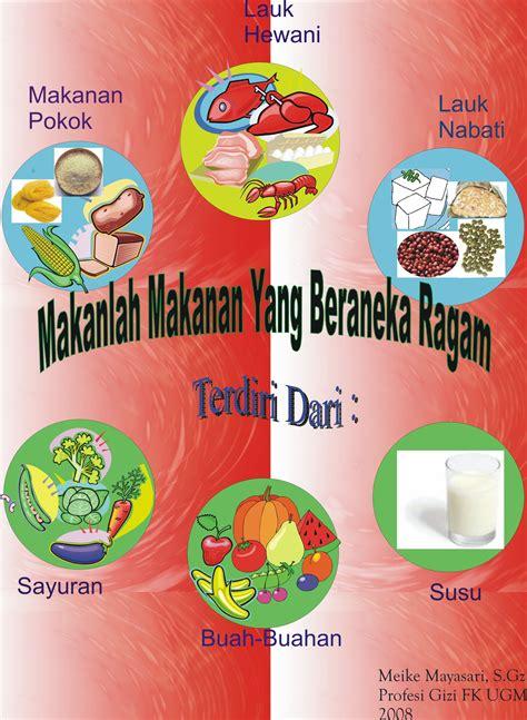 poster makanan  beraneka ragam diet sehat