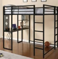 metal bunk bed with desk metal loft bed workstation desk bunk bed desk