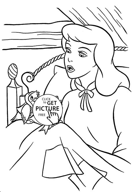 cinderella birds coloring pages cinderella and birds coloring pages for kids printable free
