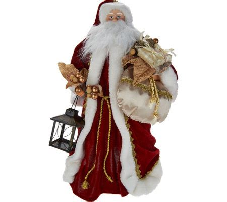 moving santa tree topper silent lights santa tree topper with moving laser projections page 1 qvc