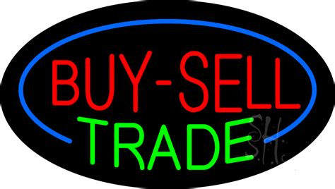 halfcom buy sell search textbooks music movies buy sell trade animated neon sign buy sell trade neon