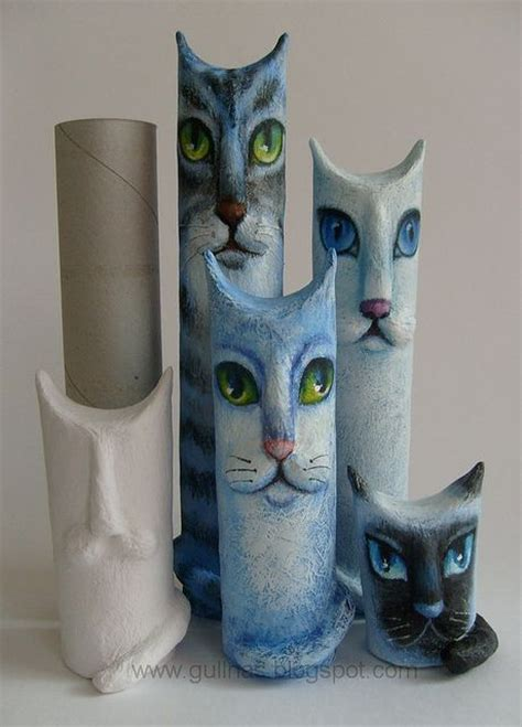 Things To Make Out Of Paper Towel Rolls - cool cat from paper towel things made out of