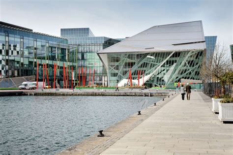 design center dublin grand canal square theatre and commercial development in