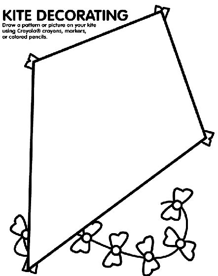 create coloring pages from photos crayola kite decorating coloring page crayola com