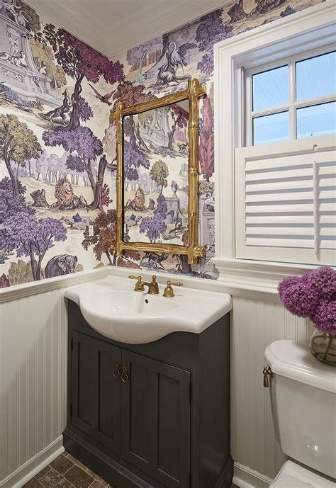 purple and gold bathroom purple and gray powder rooms transitional bathroom