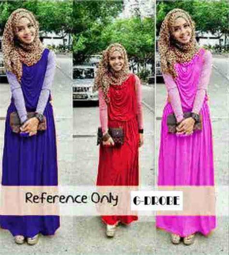 maxi dress remaja casual adora dress baju dress gamis muslim terbaru