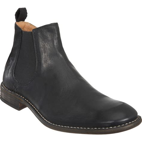 mens chelsea boots with side zip doucal s side zip chelsea boot in black for lyst