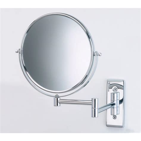 jerdon lighted magnifying mirror jerdon 8 in dia wall mount mirror in chrome jp7506cf