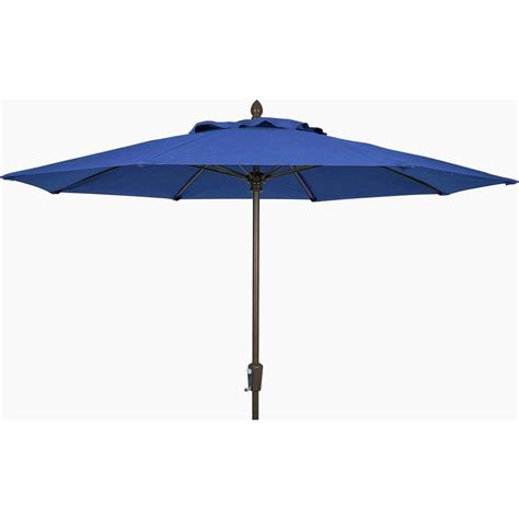 Patio Umbrella 11 Fiberbuilt Umbrellas 11 Ft Aluminum Patio Umbrella In Pacific Blue Acrylic 11lppa 4601 The