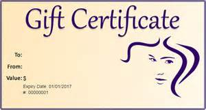 hair salon gift certificate template gift certificate template 34 free word outlook pdf