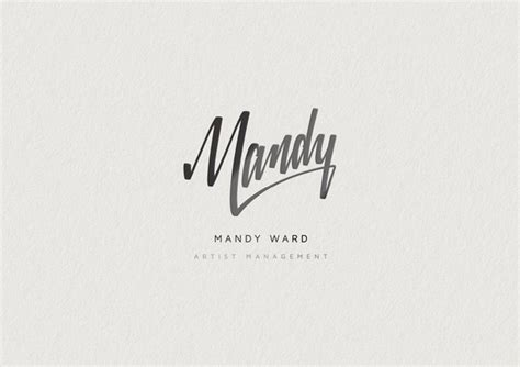 design logo name mandy ward artist management