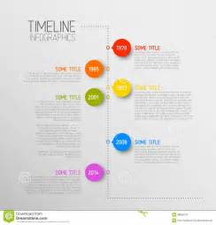 timeline infographic template infographic timeline report template stock vector image
