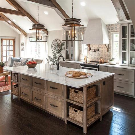 farmhouse kitchen island ideas farmhouse interior design ideas home bunch interior