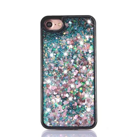 Liquid Glitter Cover Casing For Iphone 7 4 7 Tpu List Chrome new liquid glitter sparkly 3d bling moving cover for iphone 6 6s 7 pl ebay