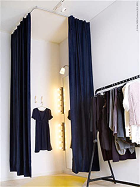 tende per camerini vestiti in ordine ikea