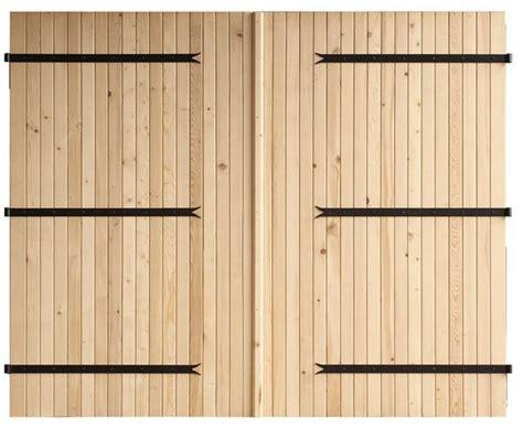 porte de garage 224 deux vantaux en bois d 233 pic 233 a h 2 m l