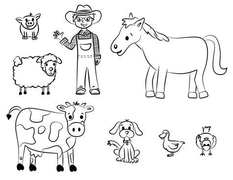 imagenes para colorear animales de la granja de dibujos para colorear con algunos de los animales de la