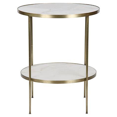 2 tier side table elanor modern gold frame 2 tier white side table