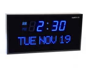 oversized led clock amazon com ivation big oversized digital blue led