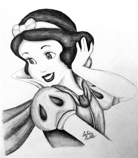 black and white pencil drawings snow white pencil drawing by artbycourtneyg on deviantart
