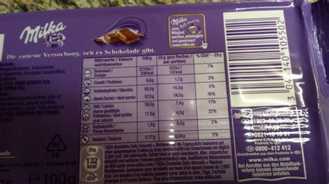 kalorien tafel schokolade milka tafelschokolade alpenmilch kalorien n 228 hrwerte