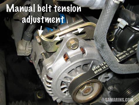 serpentine belt tensioner problems signs  wear