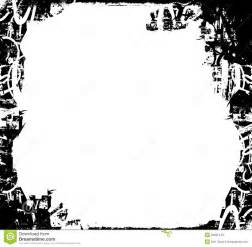 black and white grunge border stock illustration image