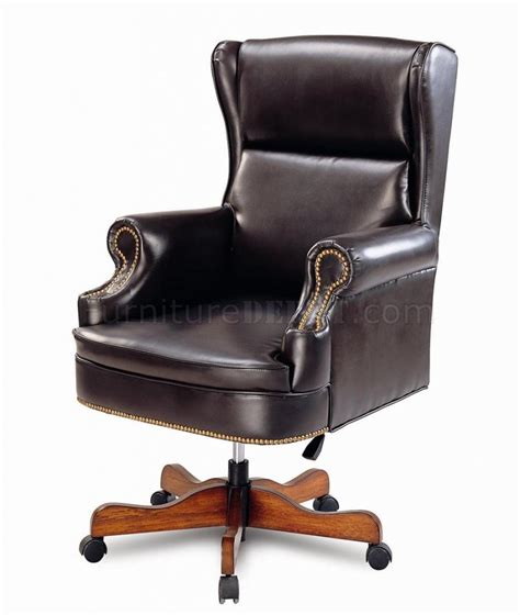 Leather Executive Chair by Vinyl Leather Stylish Executive Chair W Nailhead Trim