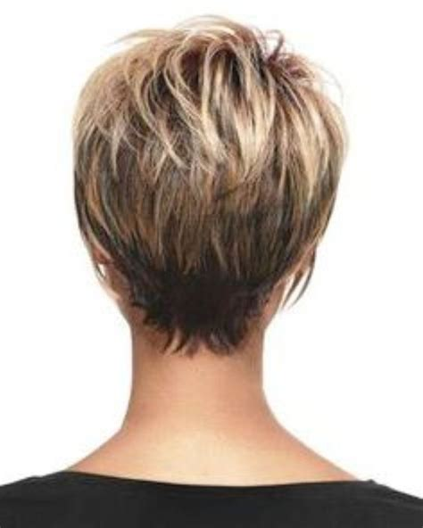 wedge with choppy layers hairstyle very short stacked hairstyles short hairstyles back view