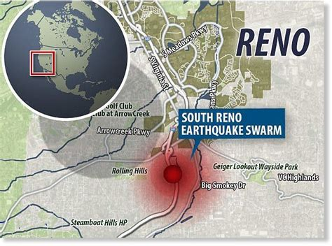 earthquake reno earthquake swarm hits south reno nevada more than 230