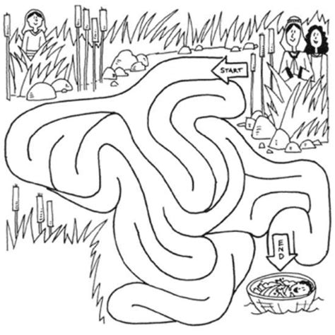 bible story coloring pages baby moses 64 best images about moses baby on pinterest maze
