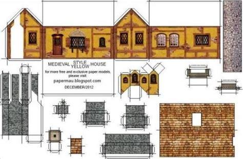 printable roman house free printable miniature templates papermau medieval