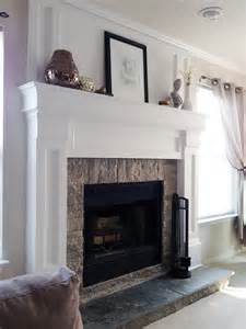 diy fireplace mantel redo diyaffair