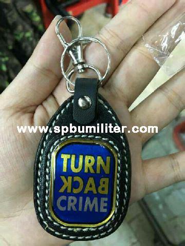 Sale Gantungan Kunci Turn Back Crime gantungan kunci turn back crime embos spbu militer