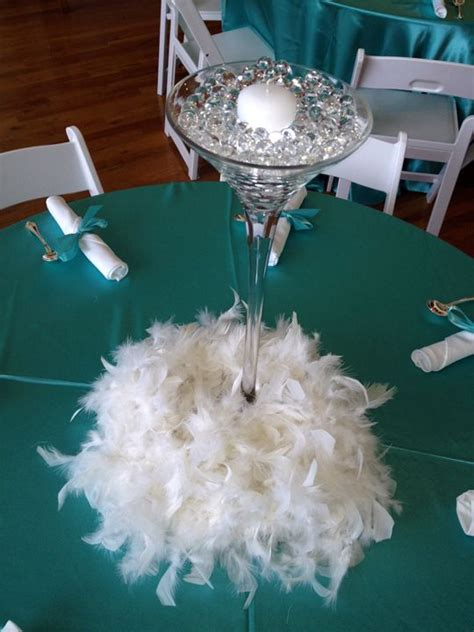 centerpieces with feathers and flowers best 25 martini glass centerpiece ideas on